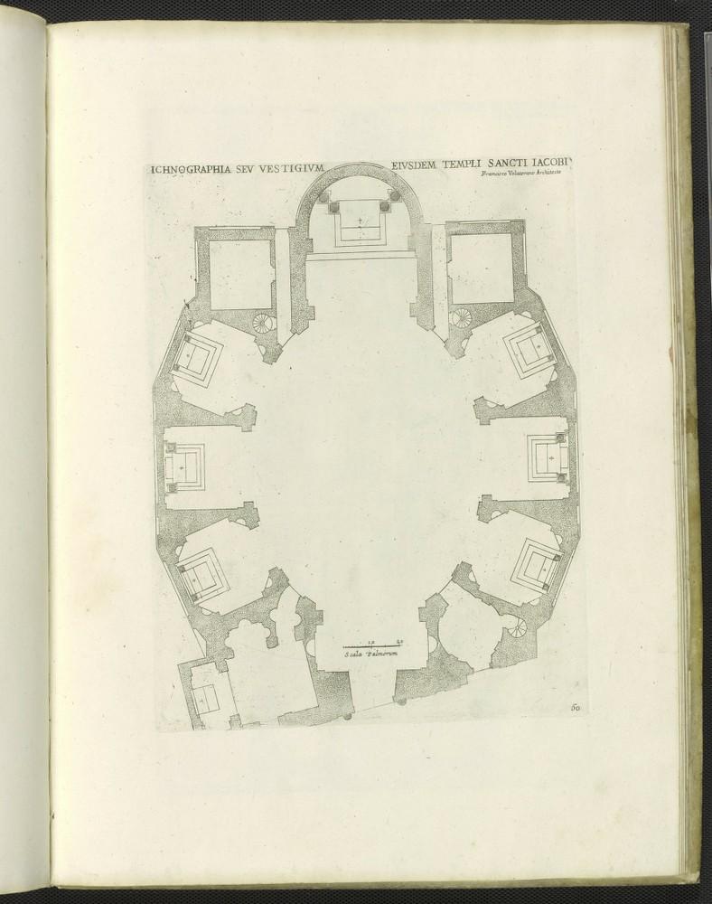 San Giacomo degli Incurabili, print of plan.