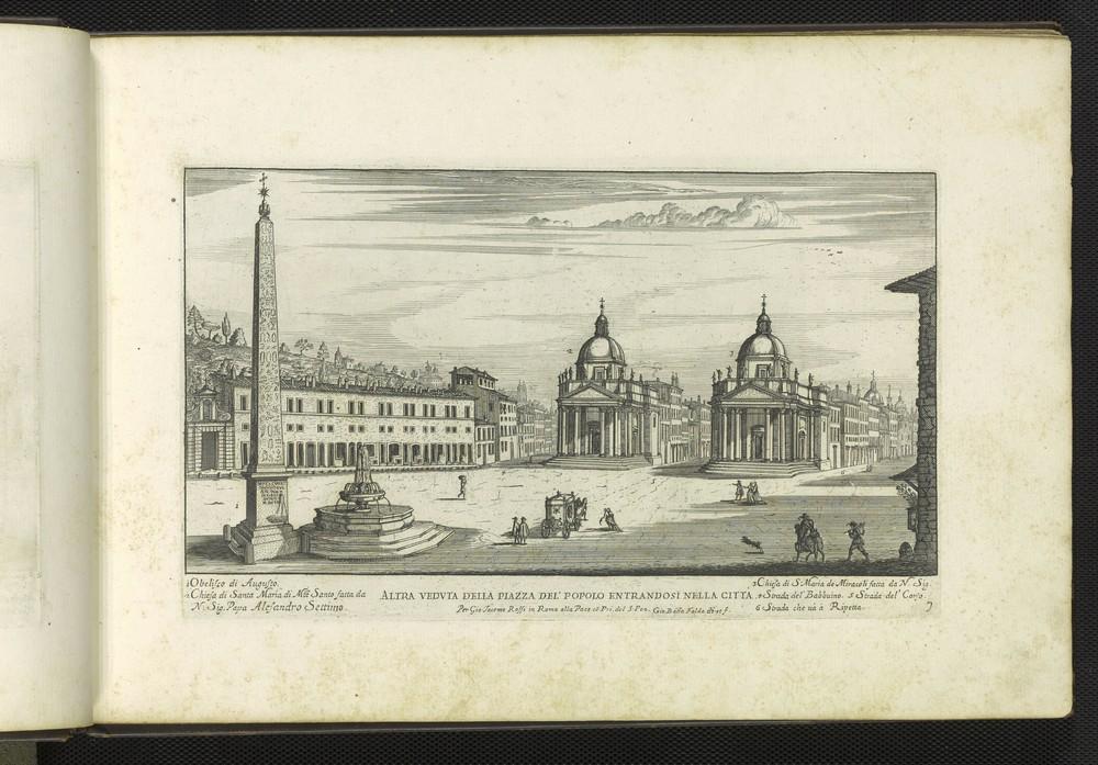 Another print of the Piazza del Popolo by Giovanni Battista Falda.