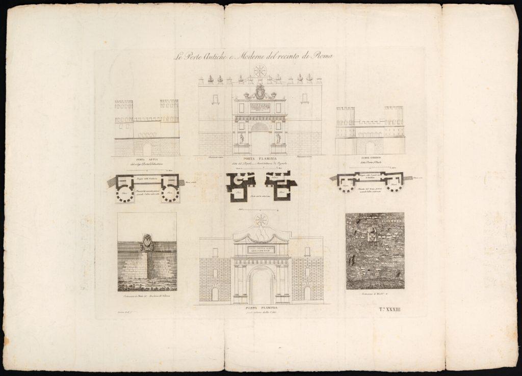 Porta del Popolo by Luigi Rossini 1829.
