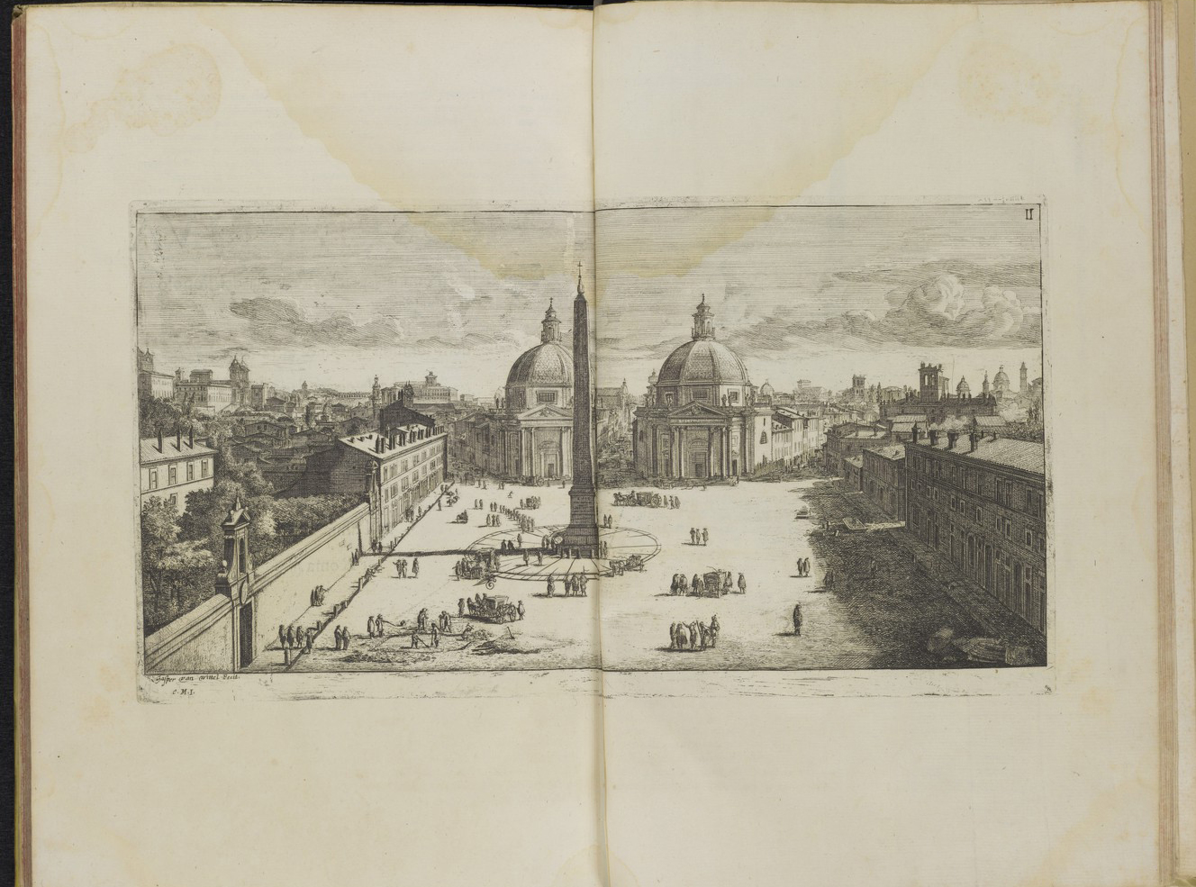 View of the Piazza del Popolo, Rome, by Gomar Wouters.