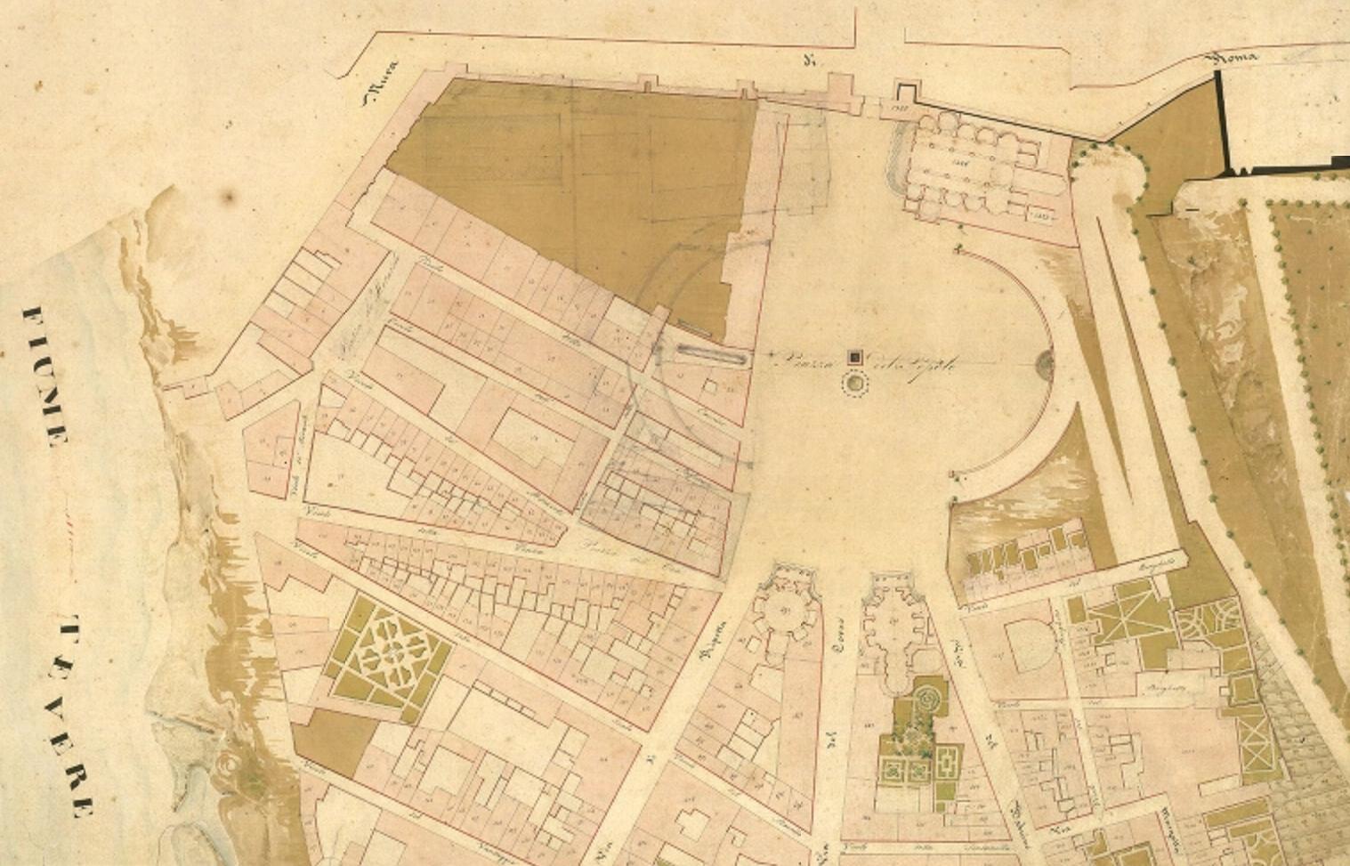 Catasto urbano di Roma, Rione IV Campomarzo, foglio I.