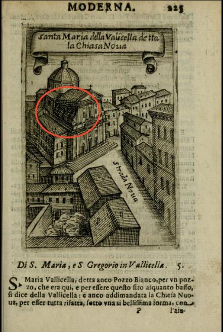 Santa Maria della Vallicella detta la Chiesa Nuova from Pompilio Rotti, Ritratto di Roma moderna, 1638.