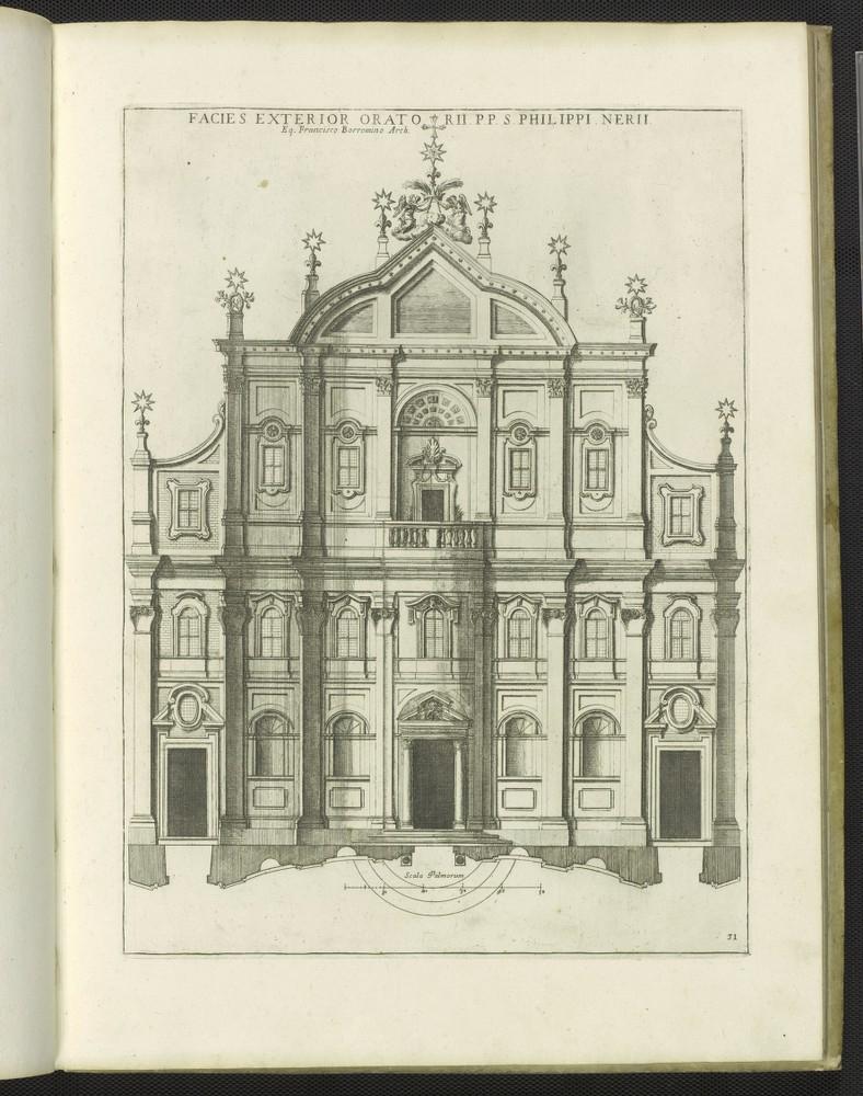 Facies exterior Orato RII.P.P. S. Philippi Nerii, from Insignium Romae templorum prospectus..., 1684.