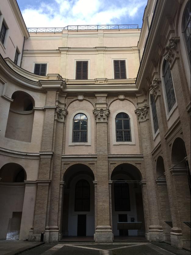 Photograph of Casa dei Filippini, first courtyard.