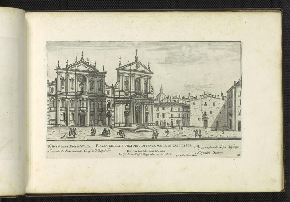 G.B. Falda, Piazza chiesa é oratorio di Santa Maria in Vallicella detta la Chiesa Nova, 1665.