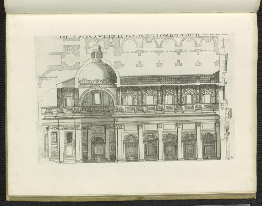 Templi S Mariae a Vallicella pars interior cum eius vestigio, from Insignium Romae templorum prospectus..., 1684.