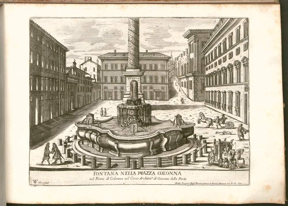 Vergelli, Giuseppe Tiburzio. Fontana nella Piazza Colonna, 1690.