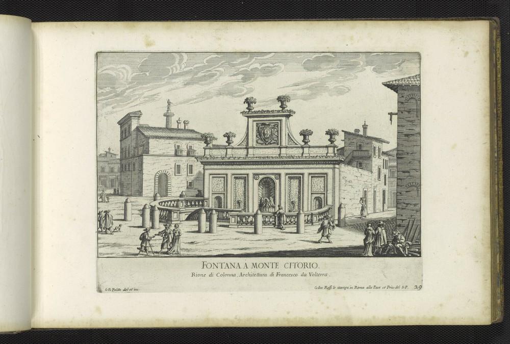 Falda, Giovanni Battista. Fontana a Monte Citorio, 1691.
