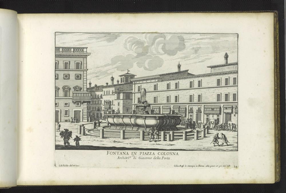 G.B. Falda, Fontana in Piazza Colonna, 1691.