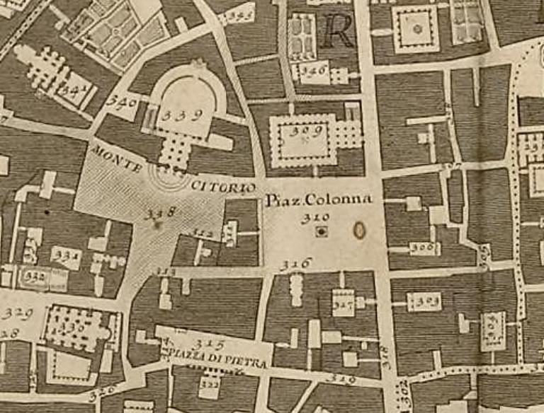 Detail from G. Nolli, Nuova pianta di Roma, 1748.
